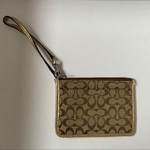 Coach cardholder with strap